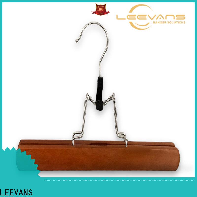 LEEVANS New wooden coat hangers with clips factory for kids
