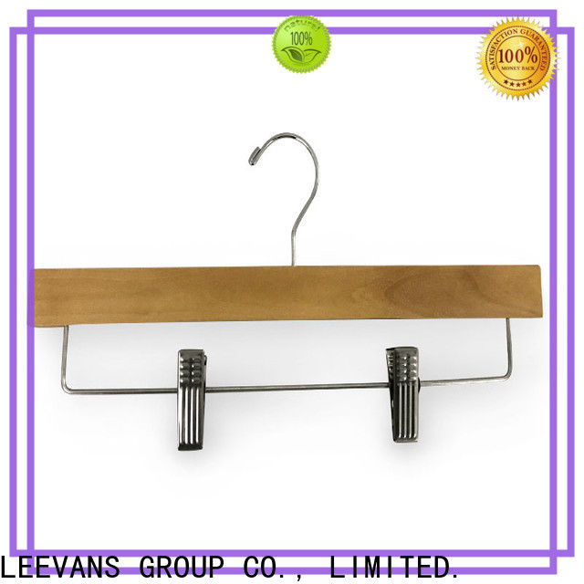 LEEVANS Custom men's coat hangers Suppliers for trouser