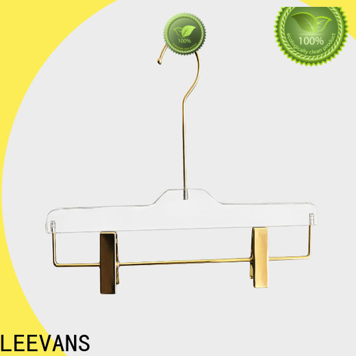 LEEVANS perspex heavyweight hangers for business for suits