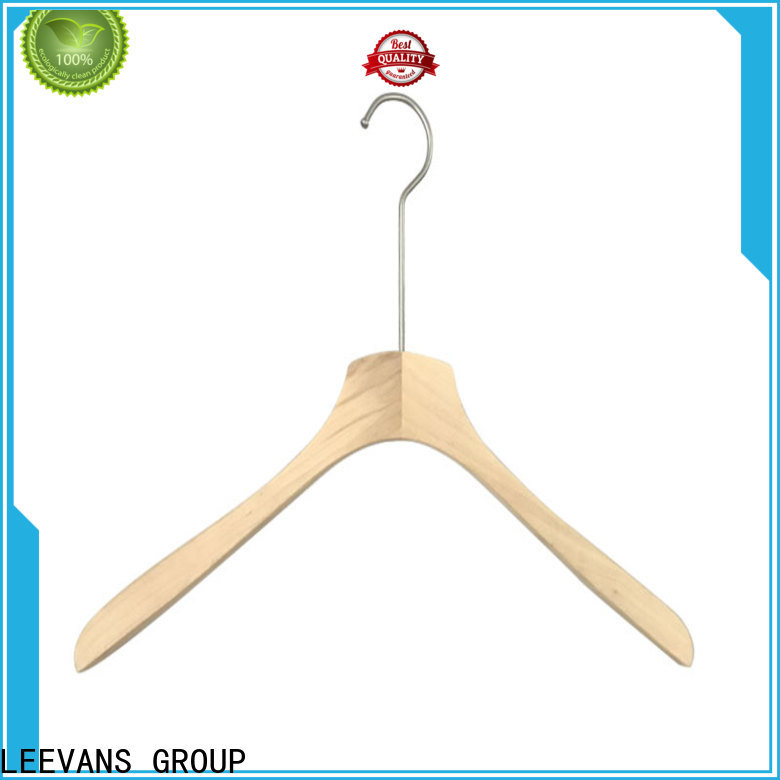 LEEVANS clips best wooden suit hangers manufacturers for pants