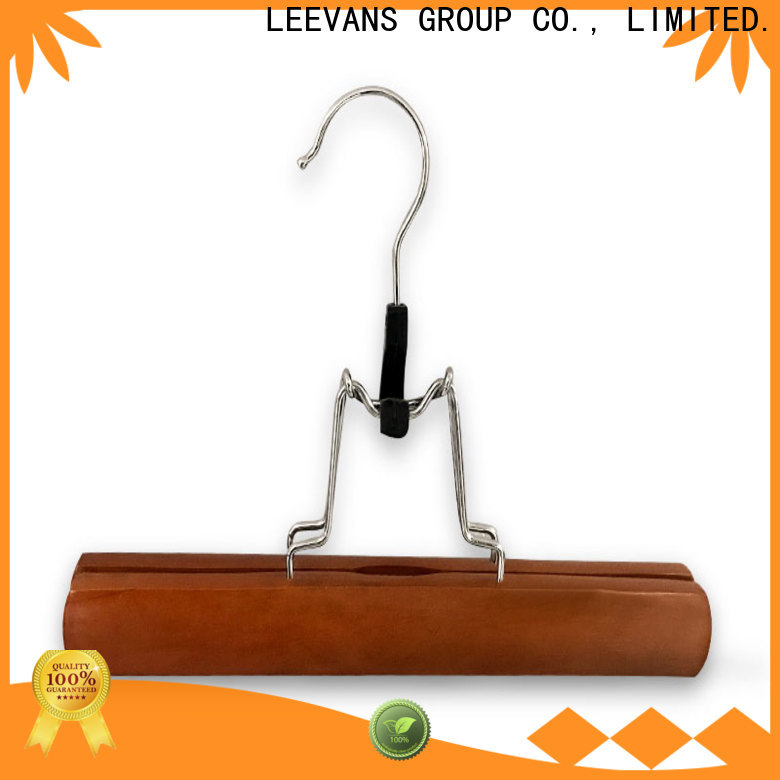 LEEVANS New large wooden coat hangers company for trouser