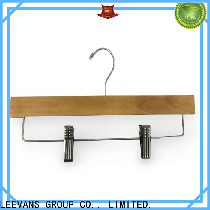 Custom white wooden pant hangers antirust Supply for pants