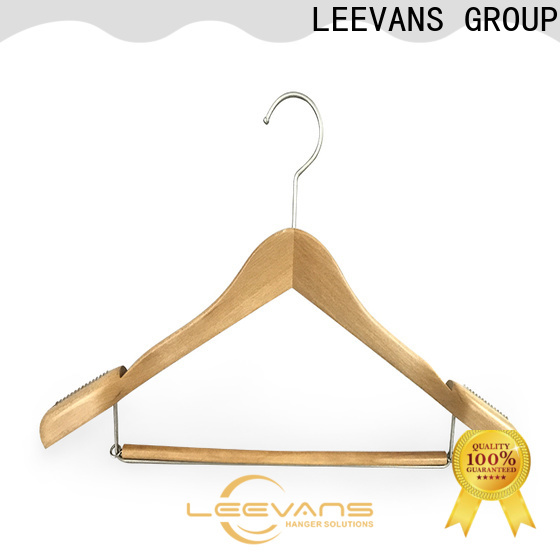 New wooden clamp hangers pants for business for skirt