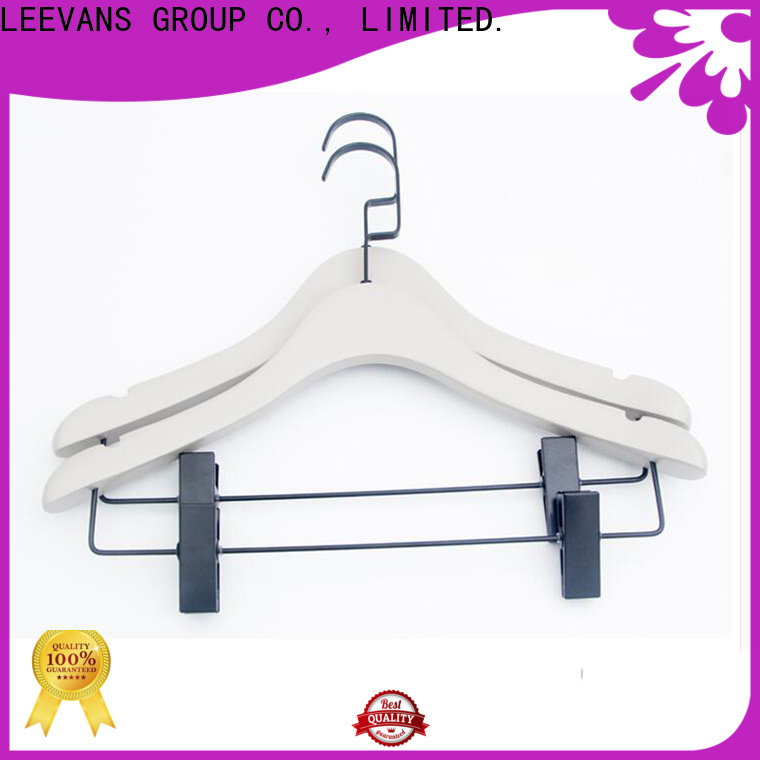 LEEVANS natural childrens clothes hangers for business for pants