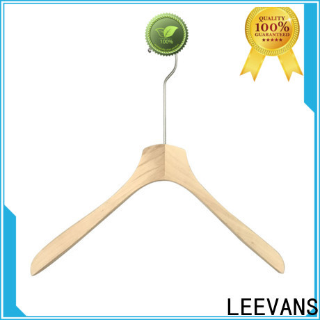 Latest white wooden coat hangers clamp factory for kids