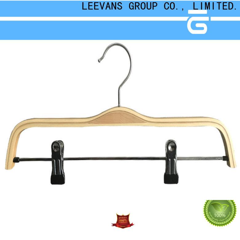 Wholesale black wooden coat hangers top factory for trouser
