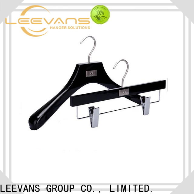 LEEVANS pant childrens white wooden coat hangers factory for kids