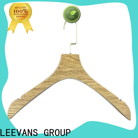 LEEVANS High-quality black wooden hangers wholesale manufacturers for children