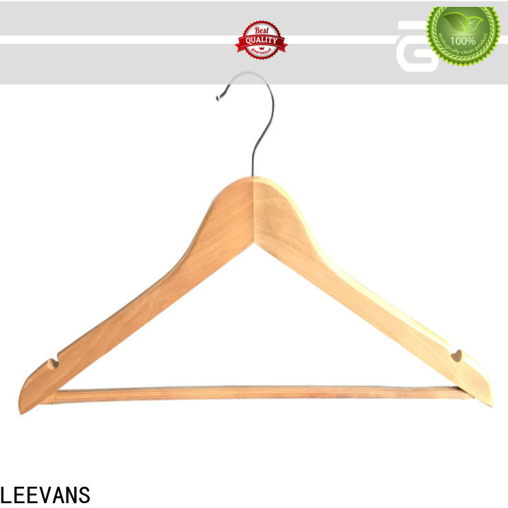 LEEVANS dark white wooden trouser hangers Supply for pants