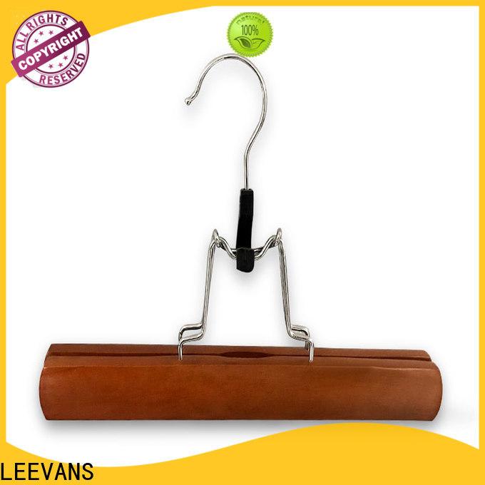 LEEVANS logo wood clothes hangers wholesale manufacturers for kids