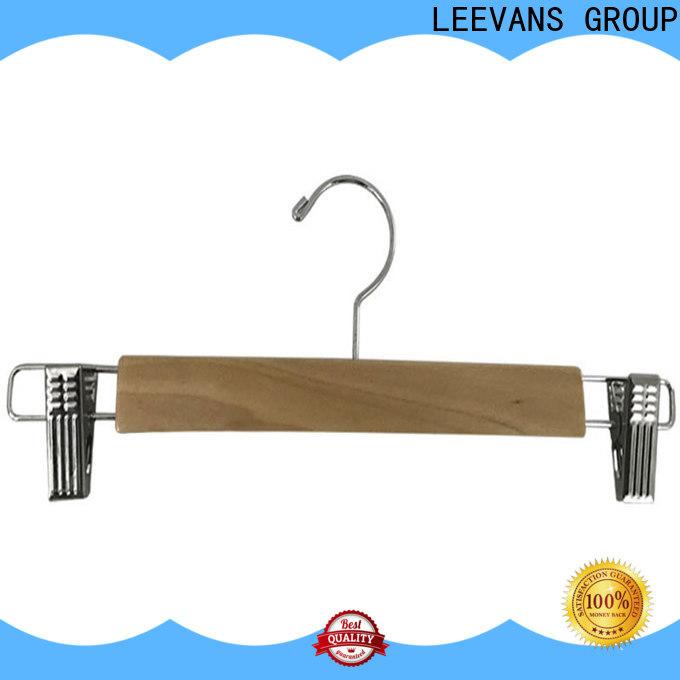 LEEVANS hook dark brown wooden hangers factory for children