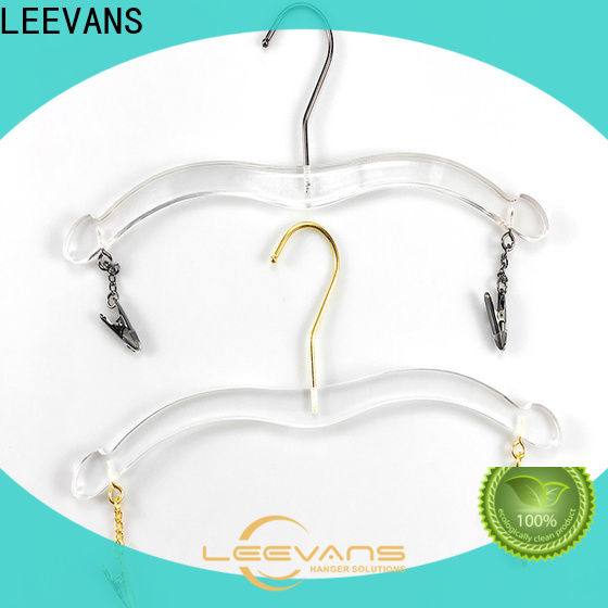 LEEVANS acrylic pretty coat hangers manufacturers for pant
