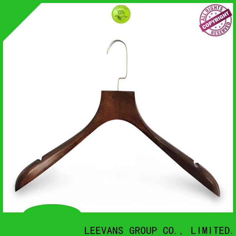 LEEVANS sale wooden closet hangers manufacturers for kids