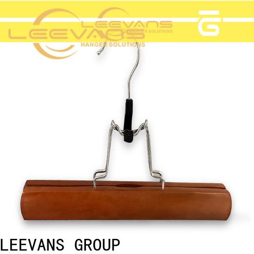 LEEVANS Custom large wooden coat hangers Supply for children