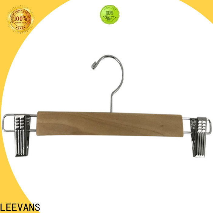 LEEVANS adjustable high quality wooden hangers Supply for clothes
