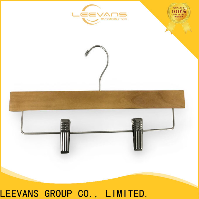 LEEVANS High-quality light wood hangers factory for clothes