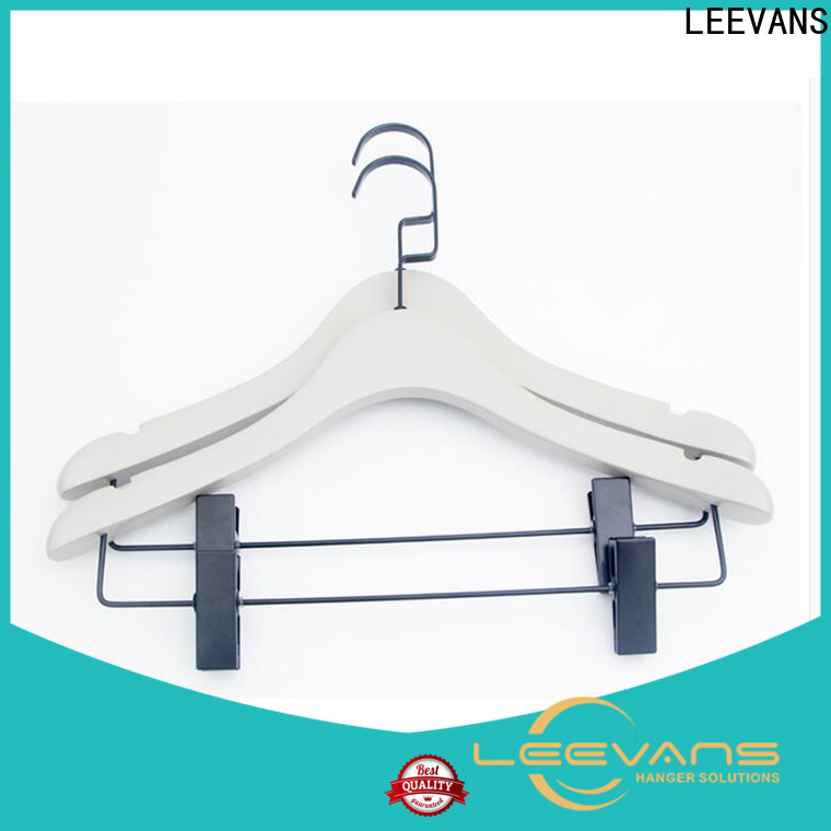 LEEVANS laminated clothes hangers for trousers for business for kids