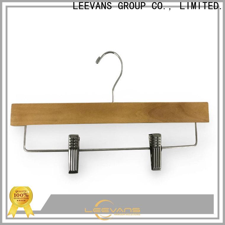 LEEVANS panton wooden trouser hanger Suppliers for skirt