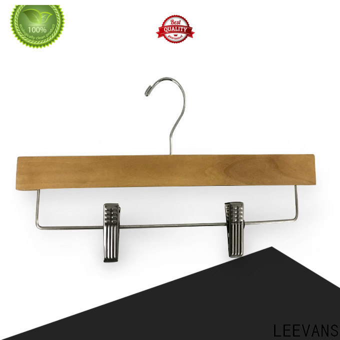 LEEVANS thick wooden hangers Suppliers