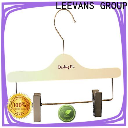 LEEVANS Top black wooden coat hangers Suppliers