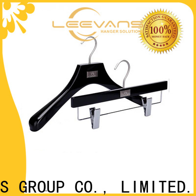 High-quality white wooden pant hangers factory