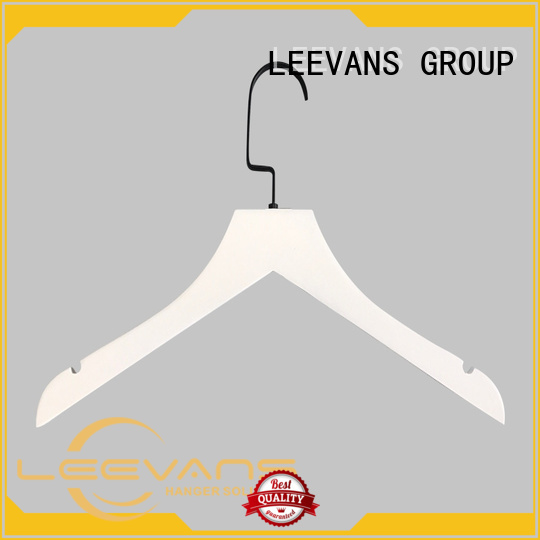LEEVANS Latest white wooden clothes hangers for business for pants