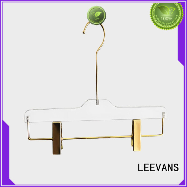 LEEVANS Latest clear acrylic hangers Supply for jackets