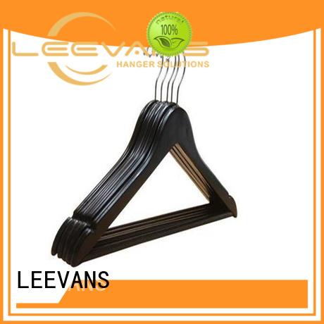 LEEVANS slip wooden coat hangers wholesale manufacturers for skirt