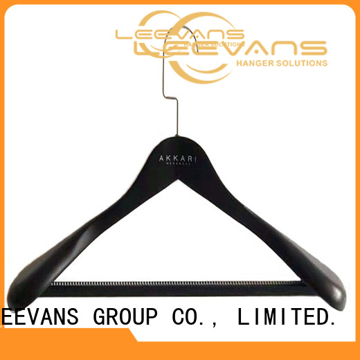 High-quality wooden clamp hangers covered company for trouser
