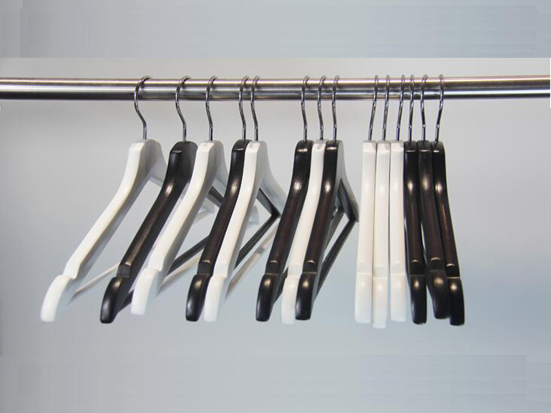 Best white wooden clip hangers hotel company for pants-4