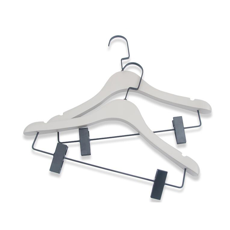 product-LEEVANS-Custom Your Logo Deluxe Wooden Jackets Coats Dressing Hanger Made Of Wooden-img