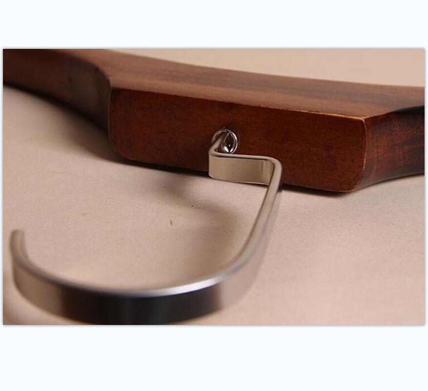 product-LEEVANS-High-Grade Wooden Hanger For Suit , Wide Shoulder Wooden Hanger With Bottom Rail-img