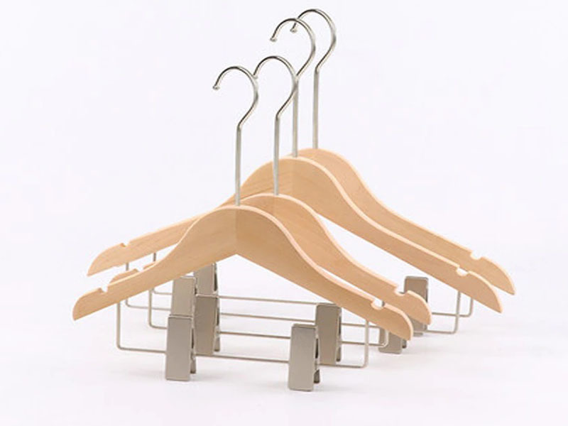 Wooden Hanger With Clips / Top Hanger For Clothes