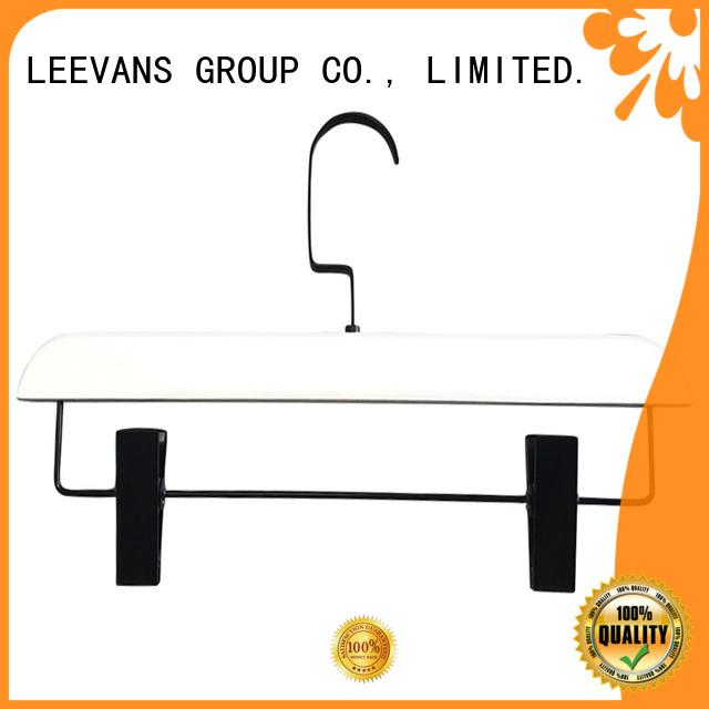 LEEVANS clamp wooden dress hangers wholesale for trouser