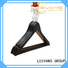 hot sale wooden pants hangers price with metal hook for trouser