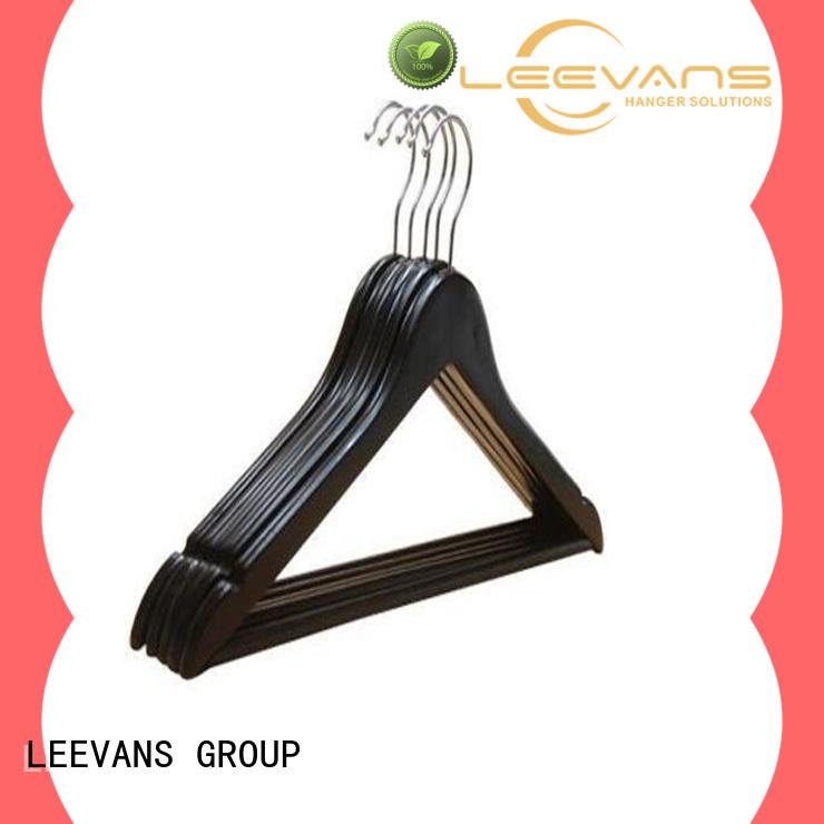LEEVANS brown childrens wooden coat hangers Suppliers for pants