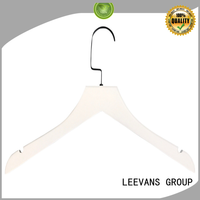 LEEVANS fashion personalized wooden hangers adjustable for skirt