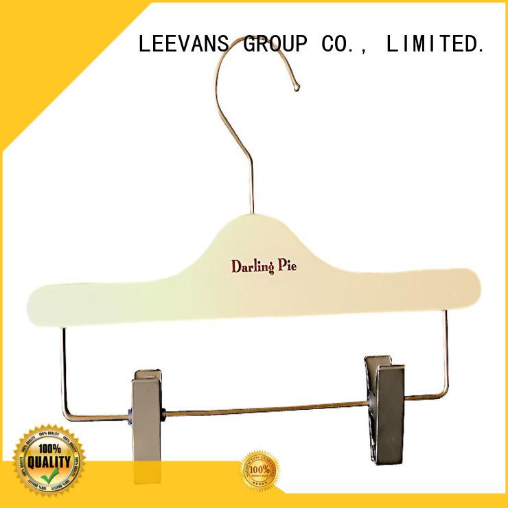 clamp wooden hanger clips manufacturer for kids LEEVANS