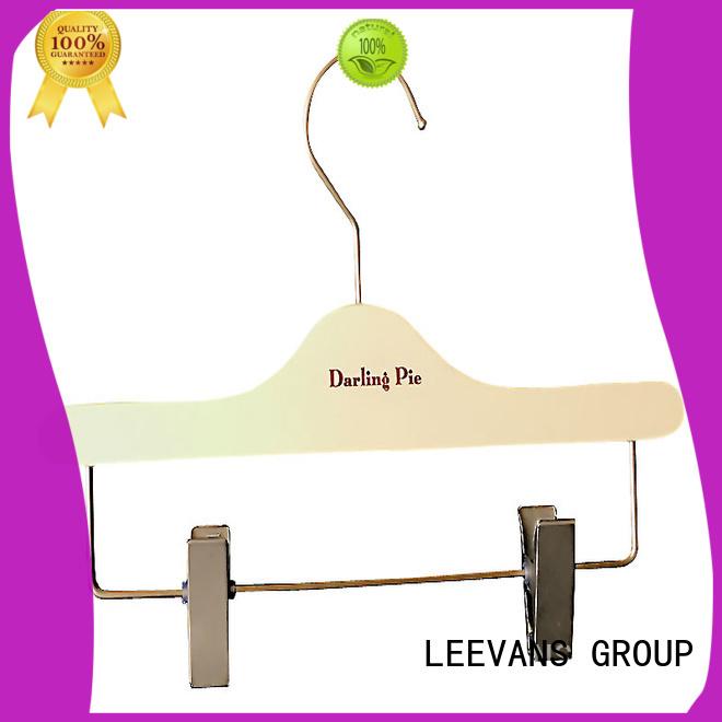 LEEVANS surface non slip wooden hangers for business for pants