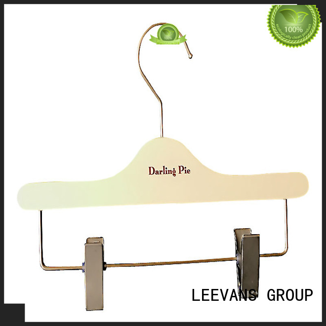 LEEVANS online custom wooden hangers manufacturer for pants
