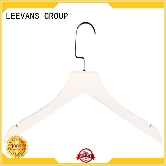 LEEVANS brown wooden pants hangers manufacturer for pants