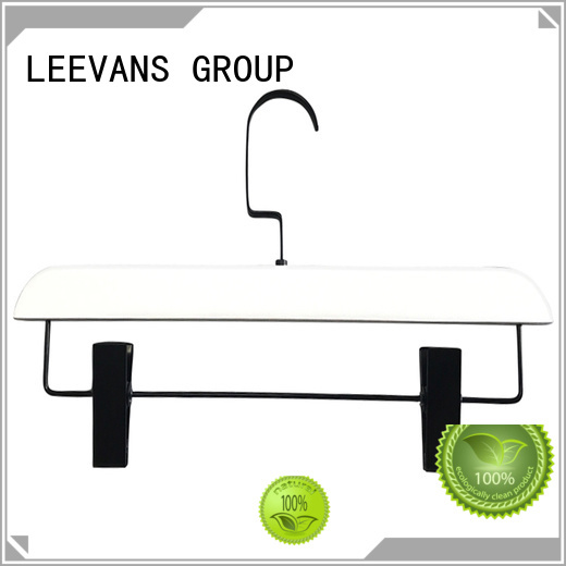 LEEVANS antirust wooden clothes hanger wholesale for skirt