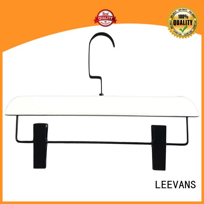 LEEVANS pants grey wooden hangers with metal hook for trouser