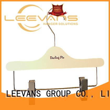 LEEVANS Custom white wooden pant hangers for business for kids