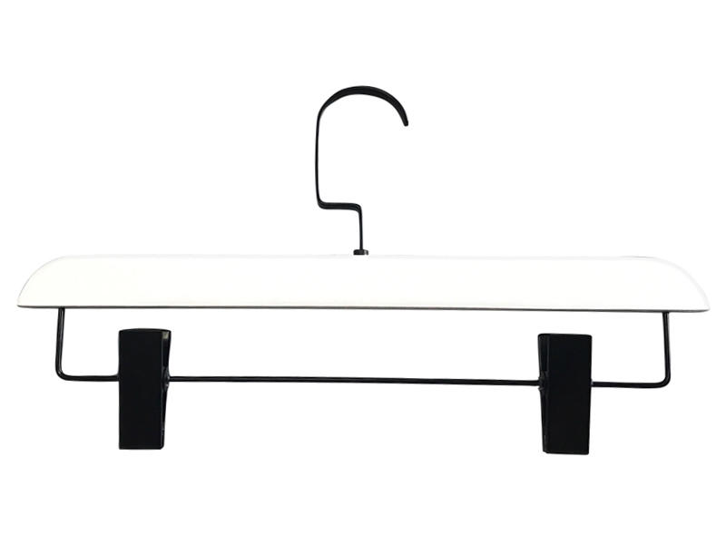 Best thick wooden hangers white company for pants-1
