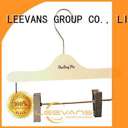 LEEVANS Top black wooden hangers wholesale company for clothes