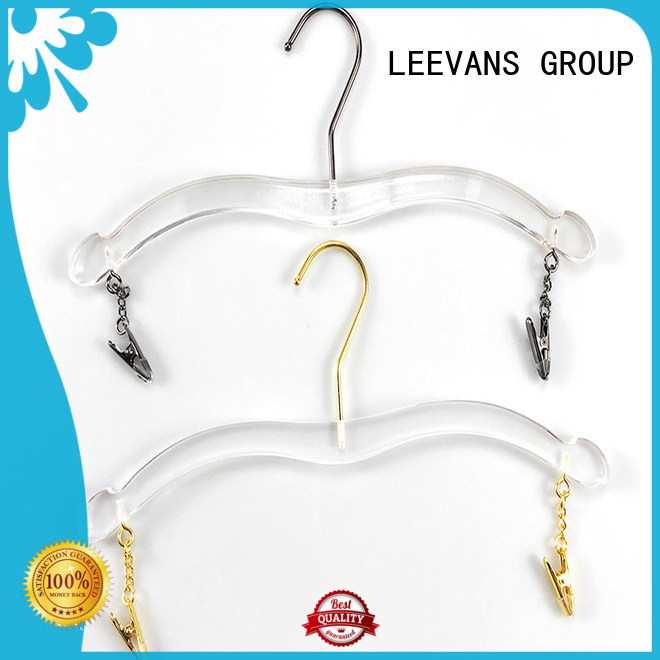 LEEVANS customized clear acrylic hangers for business for suits