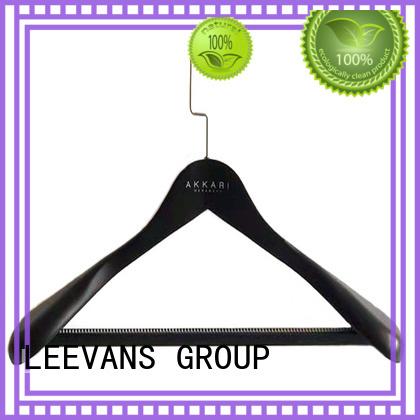 LEEVANS clamp discount wooden hangers factory for children